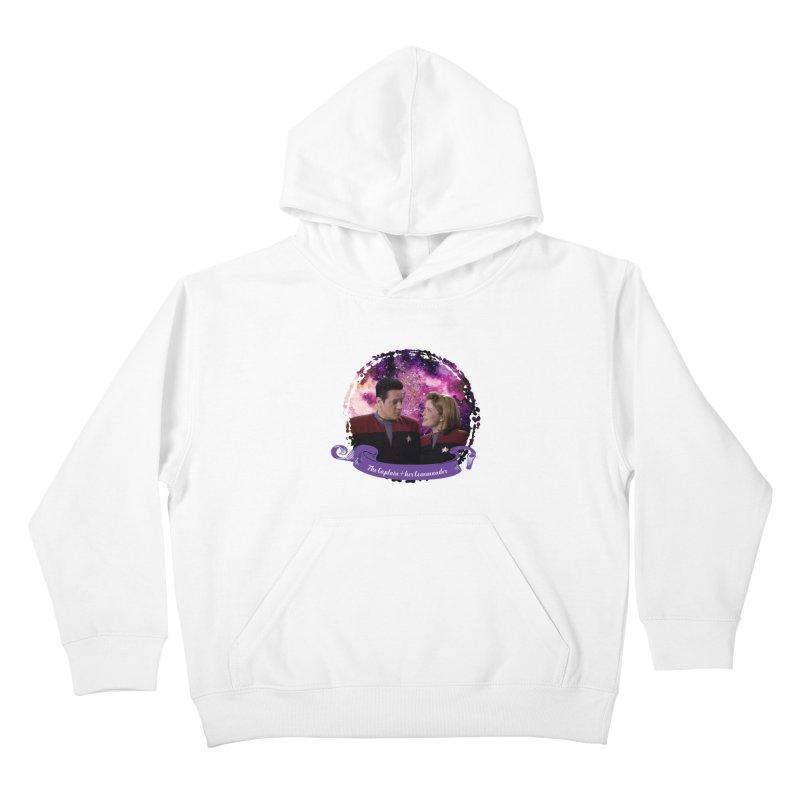 The Captain and her Commander Kids Pullover Hoody by To Boldly Merch
