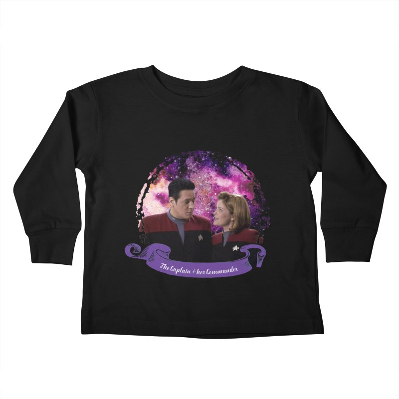 The Captain and her Commander Kids Toddler Longsleeve T-Shirt by To Boldly Merch