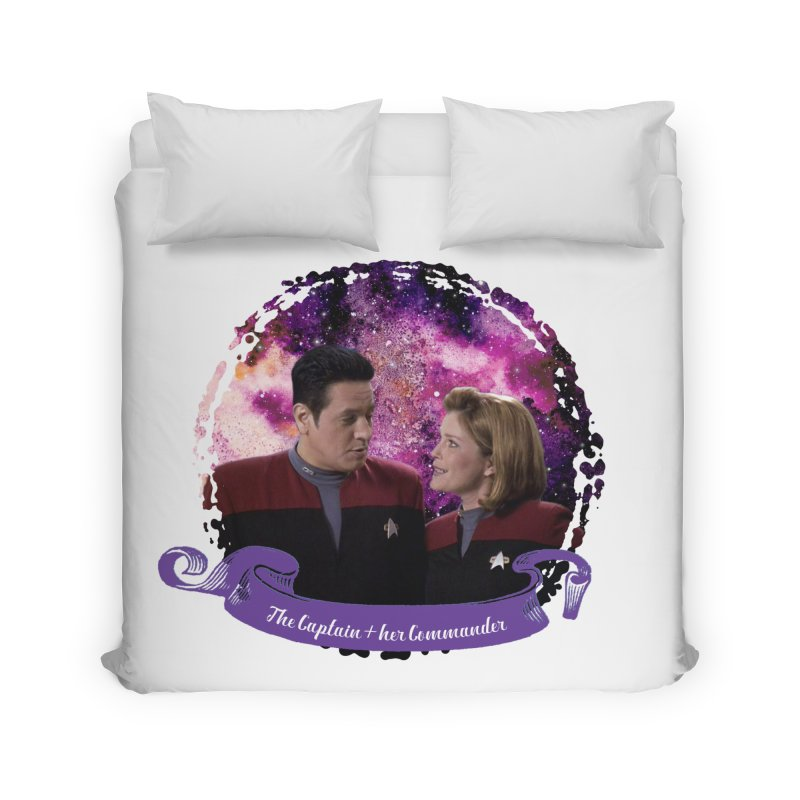 The Captain and her Commander Home Duvet by To Boldly Merch