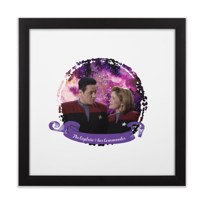 The Captain and her Commander Home Framed Fine Art Print by To Boldly Merch