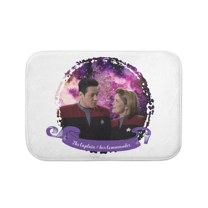 The Captain and her Commander Home Bath Mat by To Boldly Merch