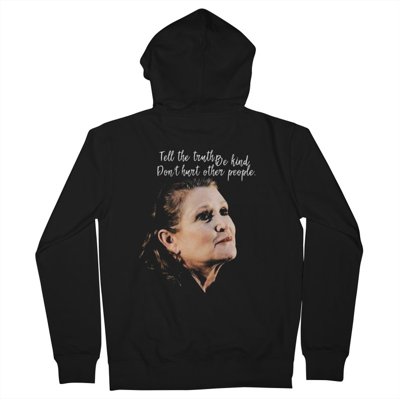 Carrie Fisher Wisdom Men's Zip-Up Hoody by To Boldly Merch