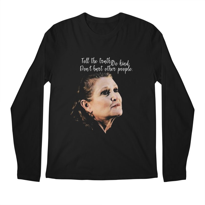 Carrie Fisher Wisdom Men's Longsleeve T-Shirt by To Boldly Merch