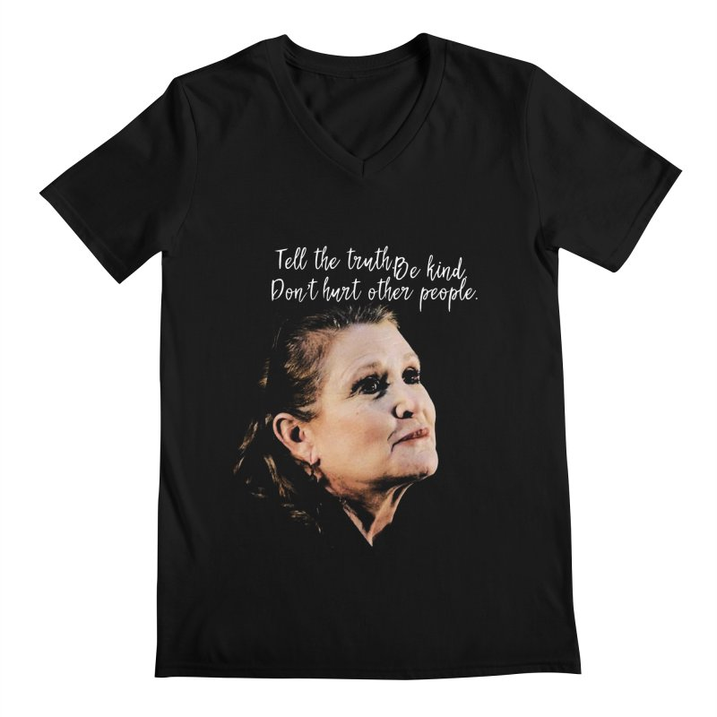 Carrie Fisher Wisdom Men's V-Neck by To Boldly Merch