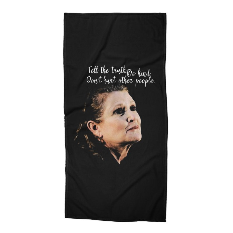 Carrie Fisher Wisdom Accessories Beach Towel by To Boldly Merch