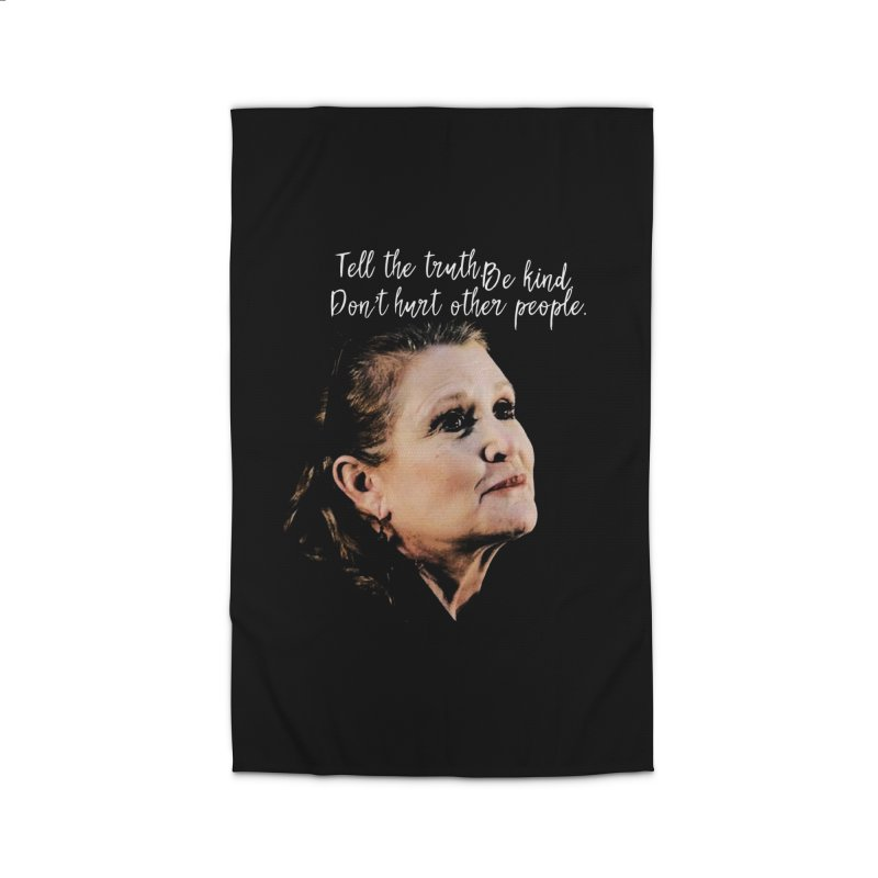 Carrie Fisher Wisdom Home Rug by To Boldly Merch