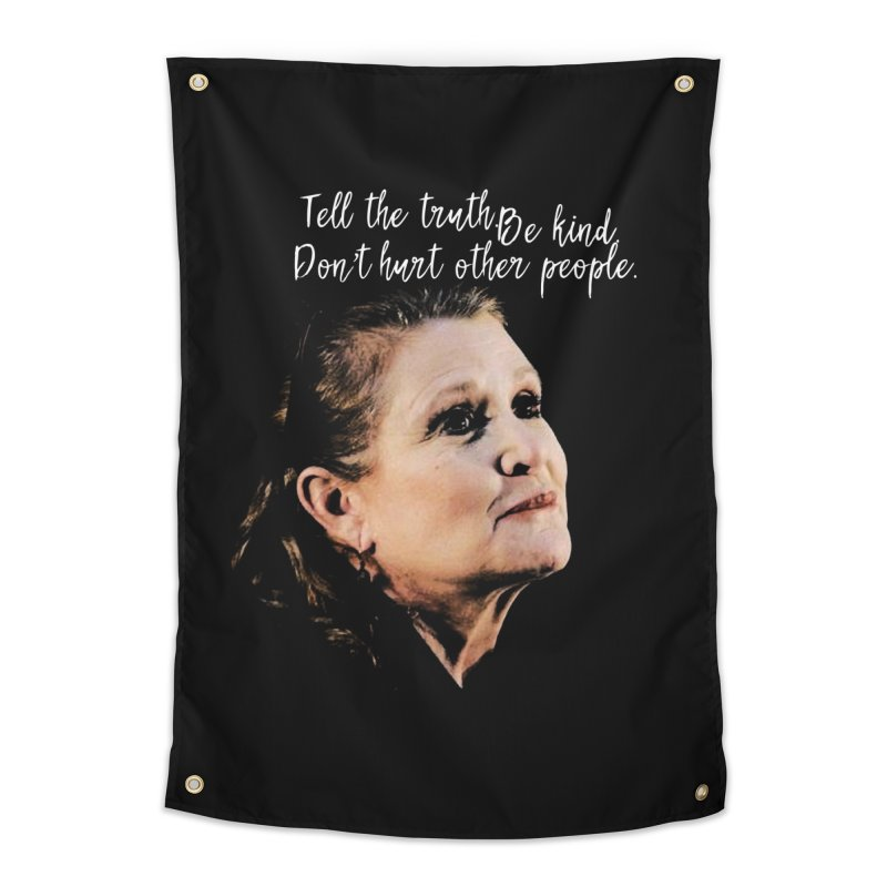 Carrie Fisher Wisdom Home Tapestry by To Boldly Merch
