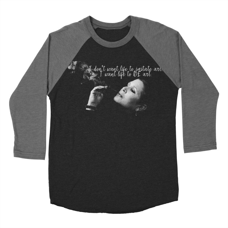Carrie Fisher Wisdom 02 Men's Baseball Triblend Longsleeve T-Shirt by To Boldly Merch