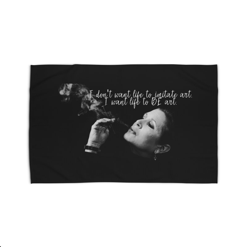 Carrie Fisher Wisdom 02 Home Rug by To Boldly Merch