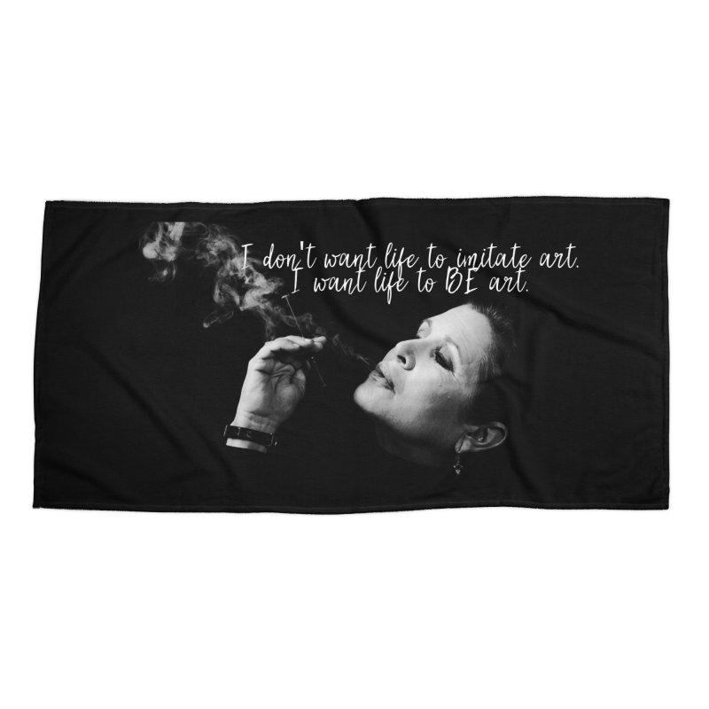 Carrie Fisher Wisdom 02 Accessories Beach Towel by To Boldly Merch