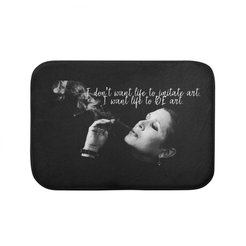 Carrie Fisher Wisdom 02 Home Bath Mat by To Boldly Merch