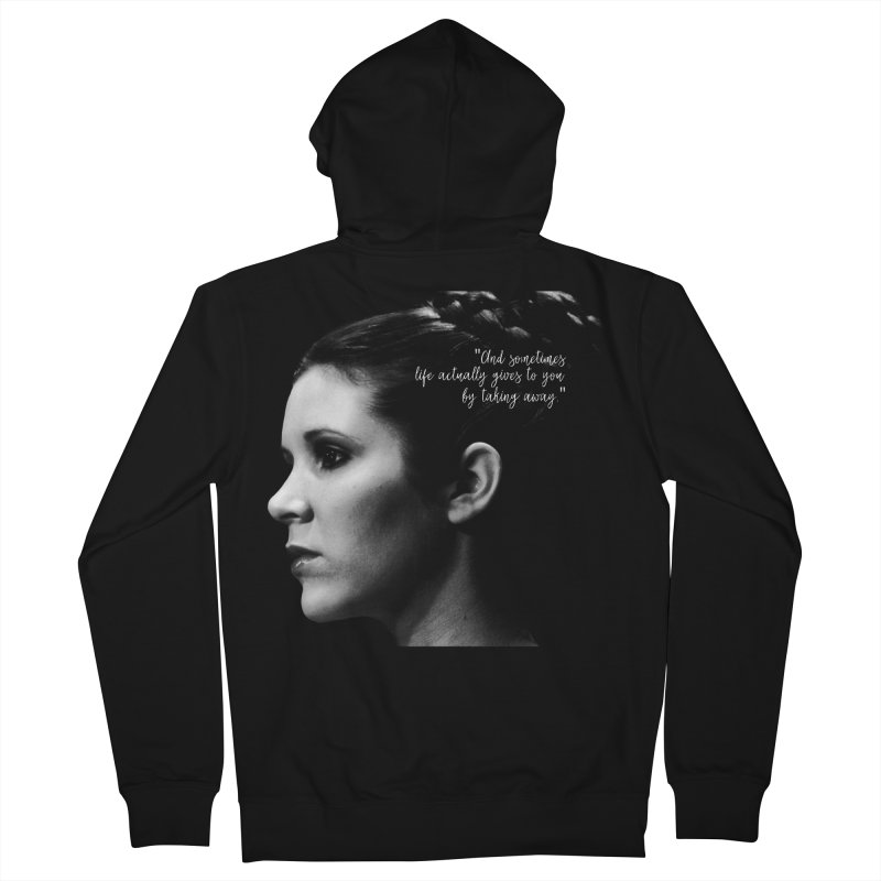 Carrie Fisher Wisdom 03 Men's Zip-Up Hoody by To Boldly Merch
