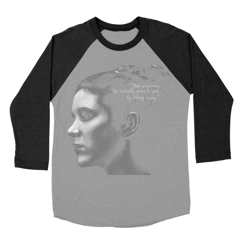 Carrie Fisher Wisdom 03 Men's Baseball Triblend Longsleeve T-Shirt by To Boldly Merch