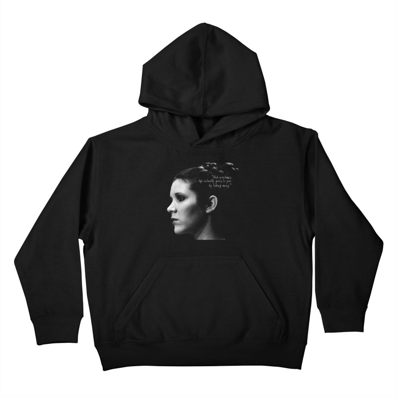 Carrie Fisher Wisdom 03 Kids Pullover Hoody by To Boldly Merch