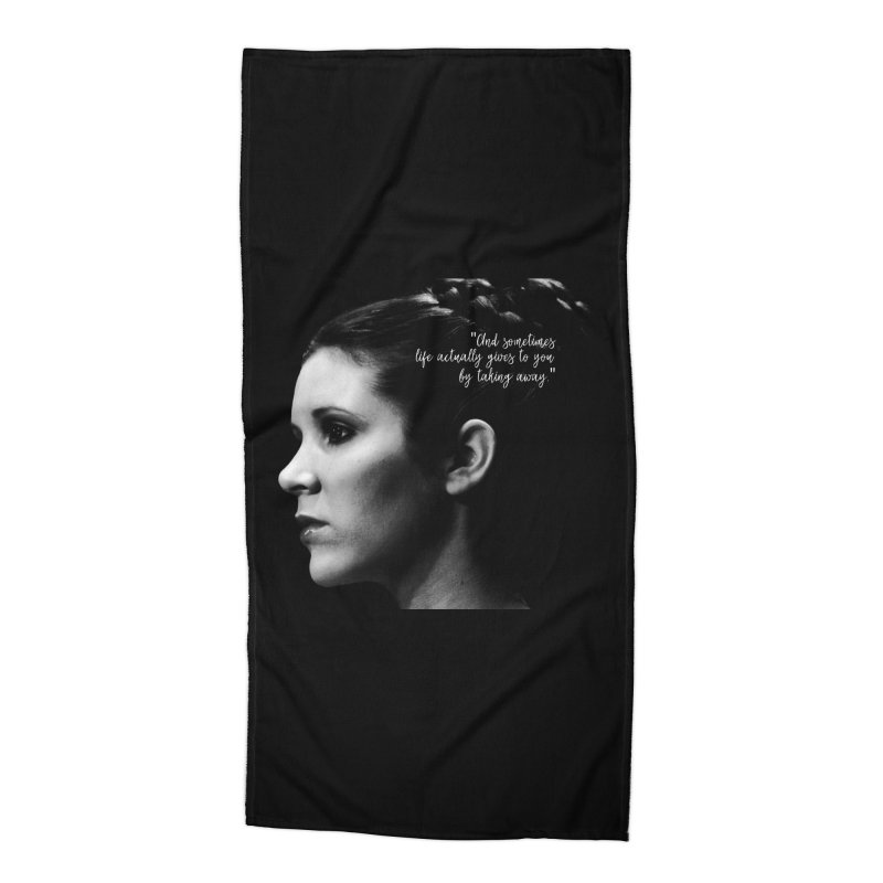 Carrie Fisher Wisdom 03 Accessories Beach Towel by To Boldly Merch