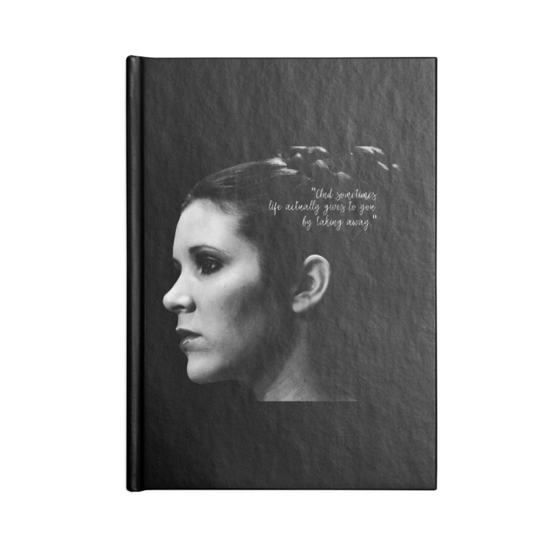 Carrie Fisher Wisdom 03 Accessories Notebook by To Boldly Merch