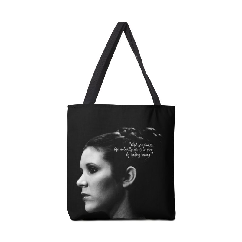 Carrie Fisher Wisdom 03 Accessories Bag by To Boldly Merch