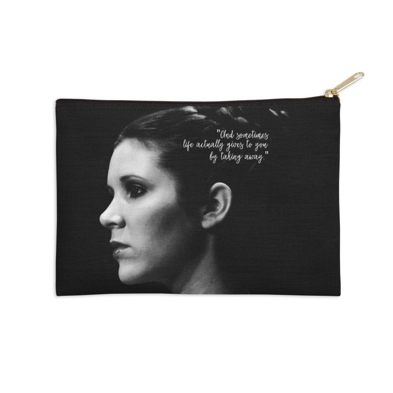 Carrie Fisher Wisdom 03 Accessories Zip Pouch by To Boldly Merch
