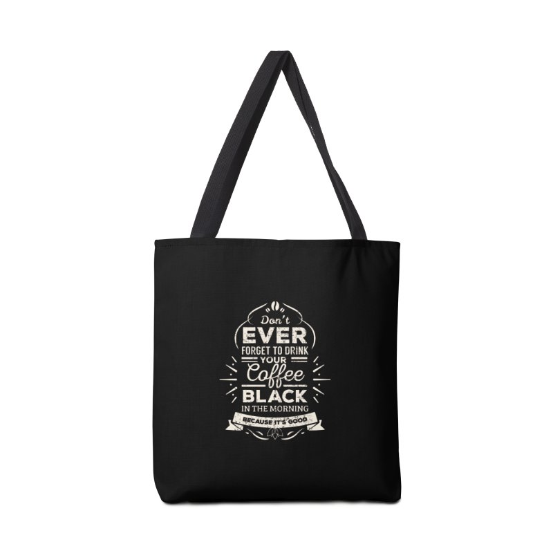 Coffee Black Mornings Accessories Bag by To Boldly Merch