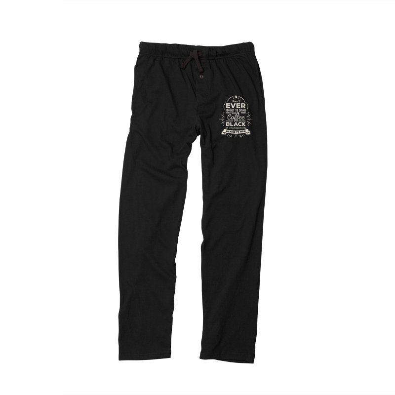 Coffee Black Mornings Men's Lounge Pants by To Boldly Merch