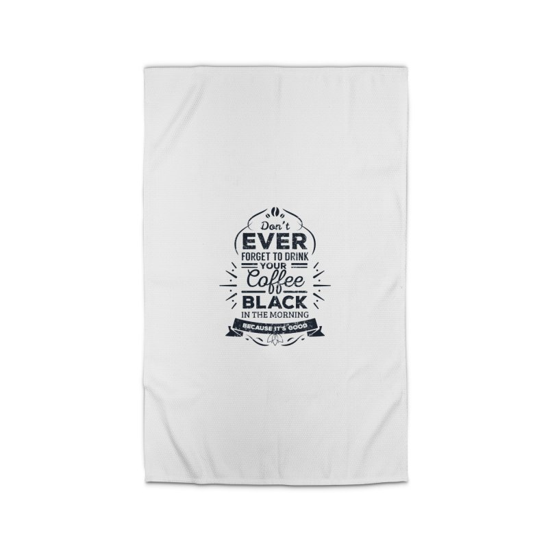 Black Coffee Mornings Home Rug by To Boldly Merch