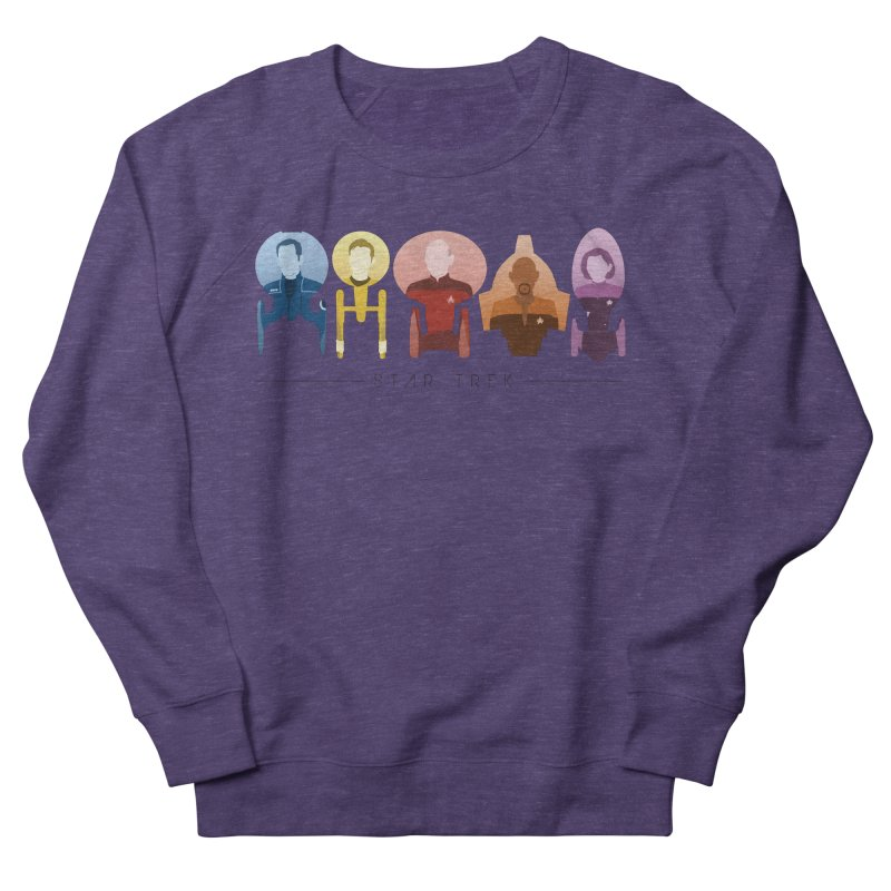 Inner Chronology Trek Captains Women's French Terry Sweatshirt by To Boldly Merch