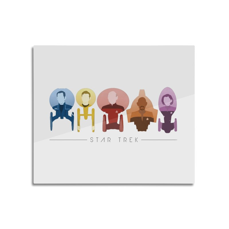 Inner Chronology Trek Captains Home Mounted Acrylic Print by To Boldly Merch