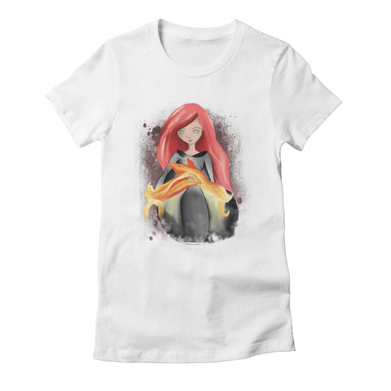 Burning Bright Women's Fitted T-Shirt by Kiaraautumn's Artist Shop