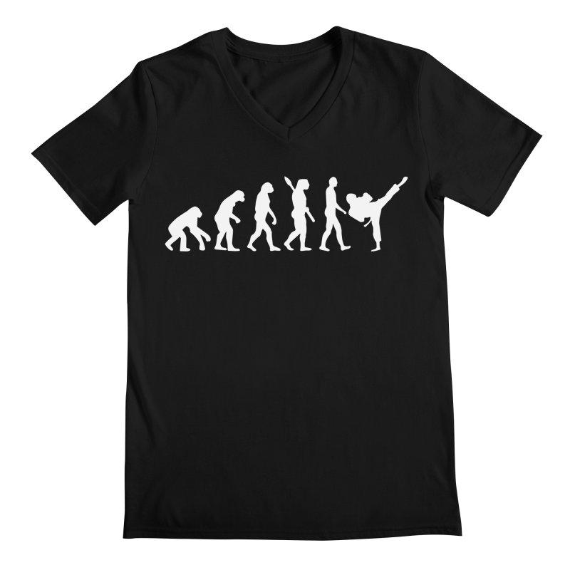 Martial Arts Evolution Men's Regular V-Neck by Kickin Tees' Artist Shop