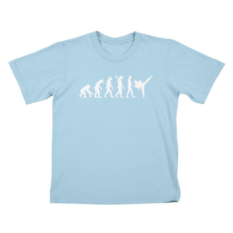 Martial Arts Evolution Kids T-Shirt by Kickin Tees' Artist Shop