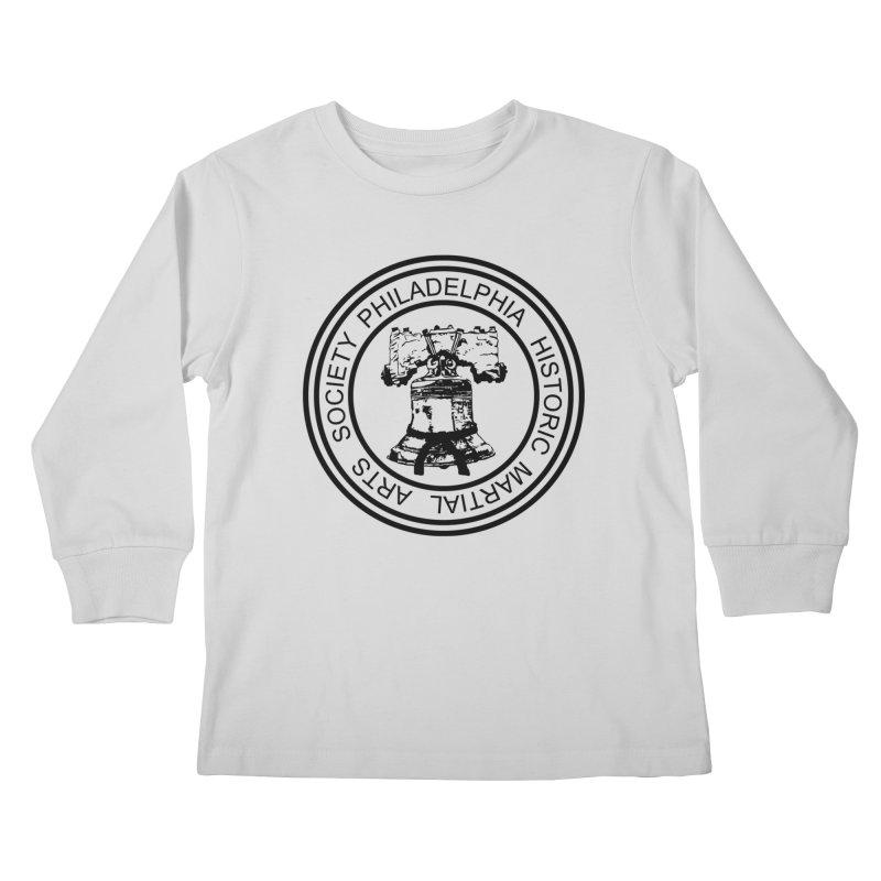 PHMAS Logo (Black) Kids Longsleeve T-Shirt by Kickin Tees' Artist Shop