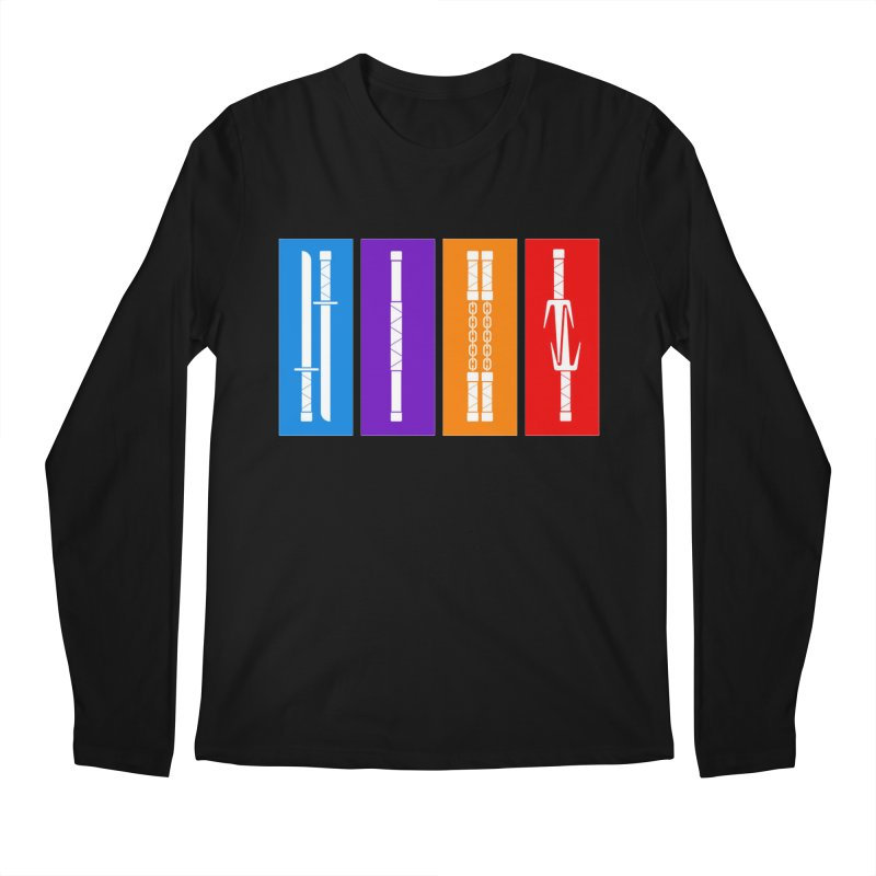 TMNT Weapons Men's Regular Longsleeve T-Shirt by Kickin Tees' Artist Shop