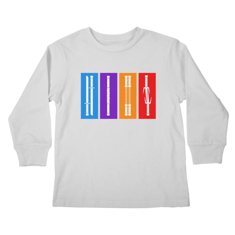TMNT Weapons Kids Longsleeve T-Shirt by Kickin Tees' Artist Shop
