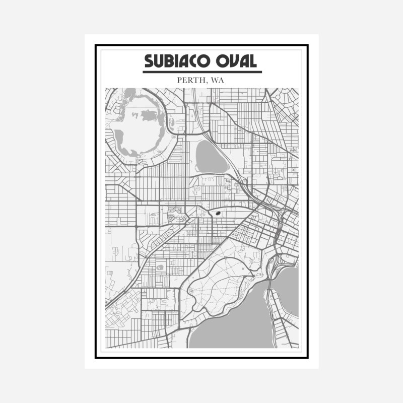 Subiaco Oval Map kicktokickculture subiaco oval perth map line art