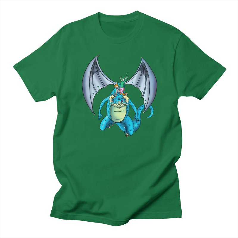 Dragon Riders Men's T-Shirt by Kid Beowulf Studio Store
