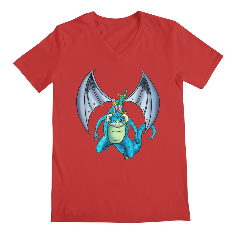Dragon Riders Men's V-Neck by Kid Beowulf Studio Store