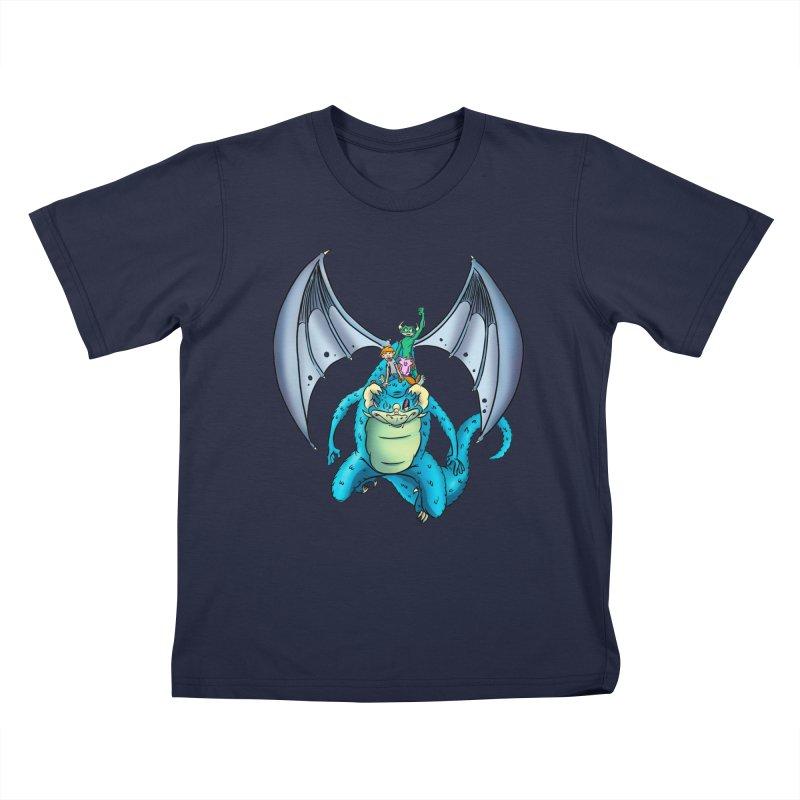 Dragon Riders Kids T-Shirt by Kid Beowulf Studio Store