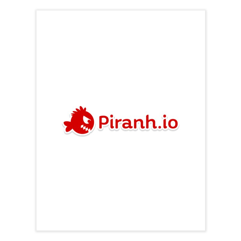 Piranh.io logo Home Fine Art Print by Kiemura Merchandise