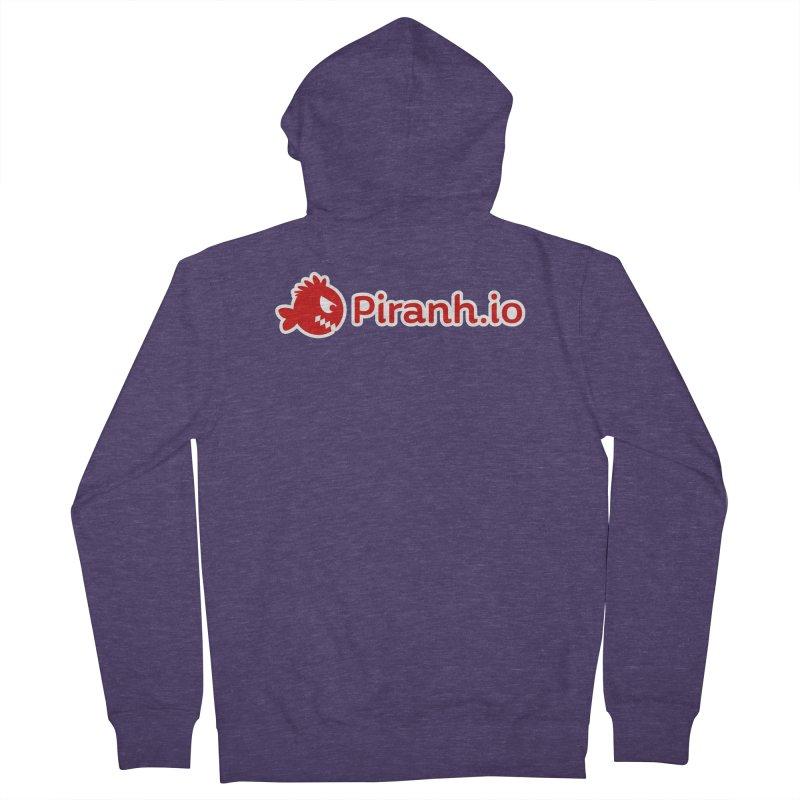 Piranh.io logo Men's Zip-Up Hoody by Kiemura Merchandise