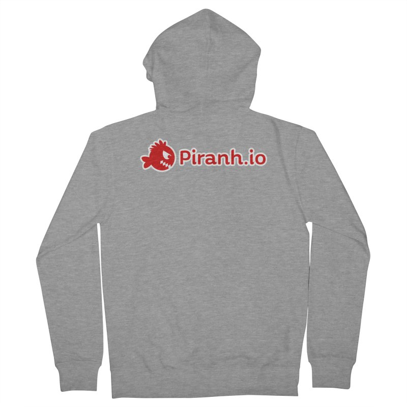 Piranh.io logo Men's Zip-Up Hoody by Kiemura Merchandise