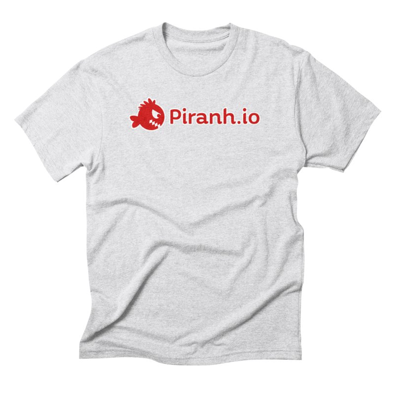 Piranh.io logo in Men's Triblend T-Shirt Heather White by Kiemura Merchandise