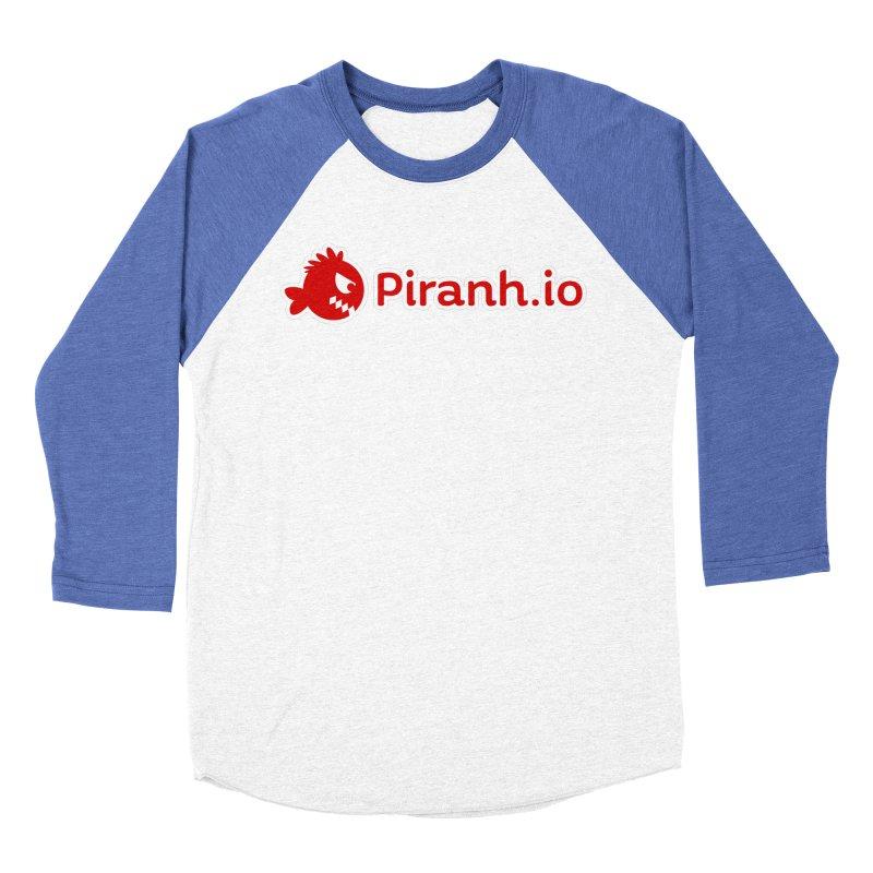 Piranh.io logo Women's Baseball Triblend Longsleeve T-Shirt by Kiemura Merchandise