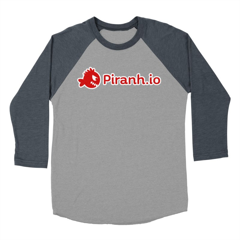 Piranh.io logo Women's Baseball Triblend T-Shirt by Kiemura Merchandise