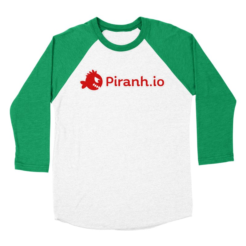Piranh.io logo Men's Baseball Triblend Longsleeve T-Shirt by Kiemura Merchandise