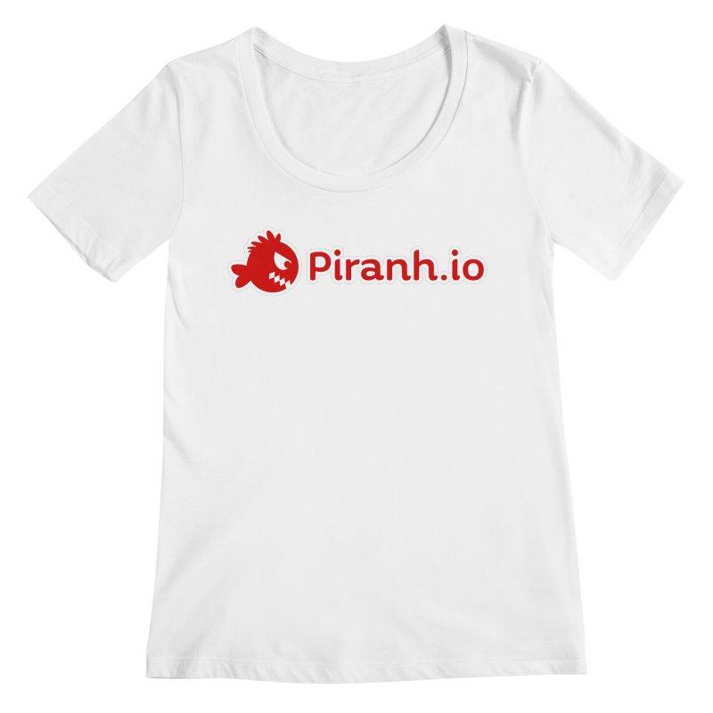 Piranh.io logo Women's Regular Scoop Neck by Kiemura Merchandise