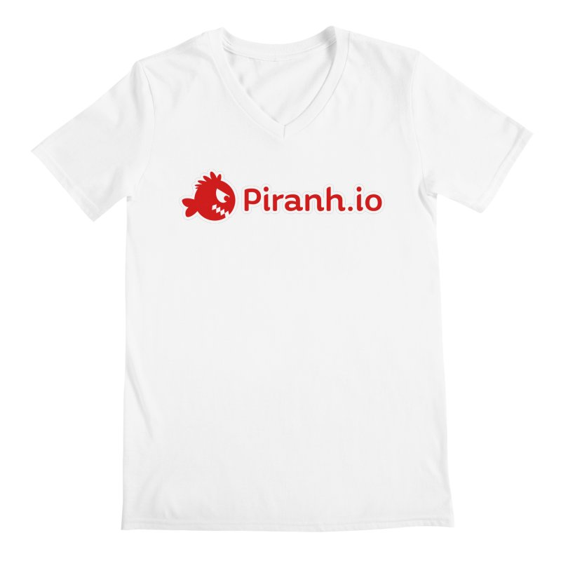 Piranh.io logo Men's Regular V-Neck by Kiemura Merchandise