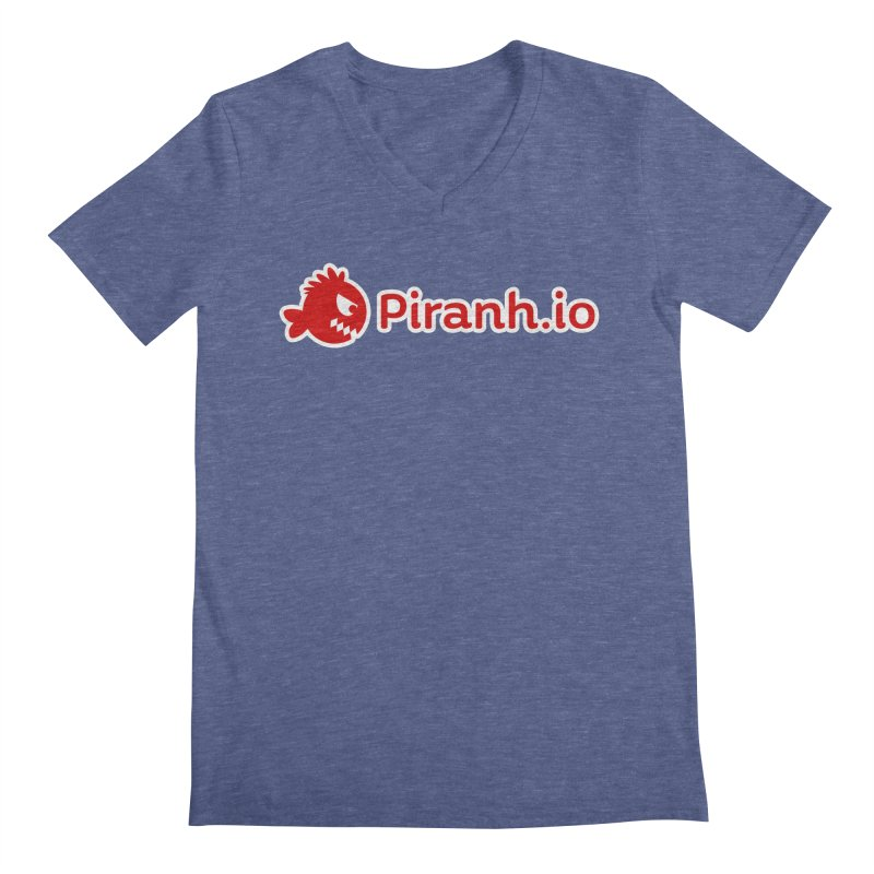 Piranh.io logo Men's V-Neck by Kiemura Merchandise