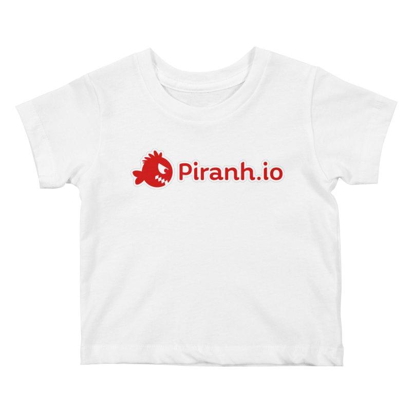 Piranh.io logo Kids Baby T-Shirt by Kiemura Merchandise