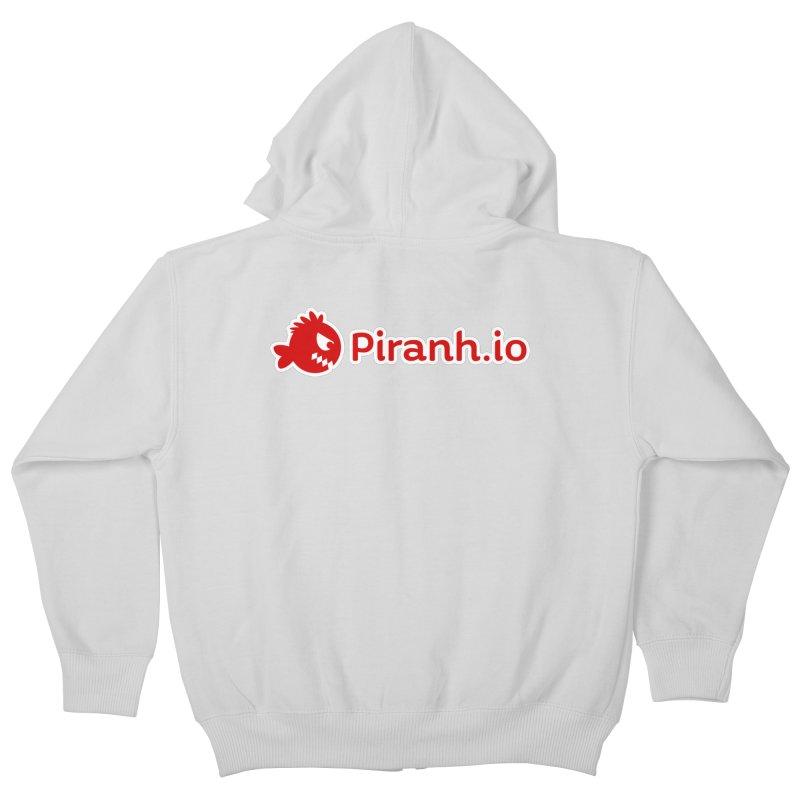 Piranh.io logo Kids Zip-Up Hoody by Kiemura Merchandise