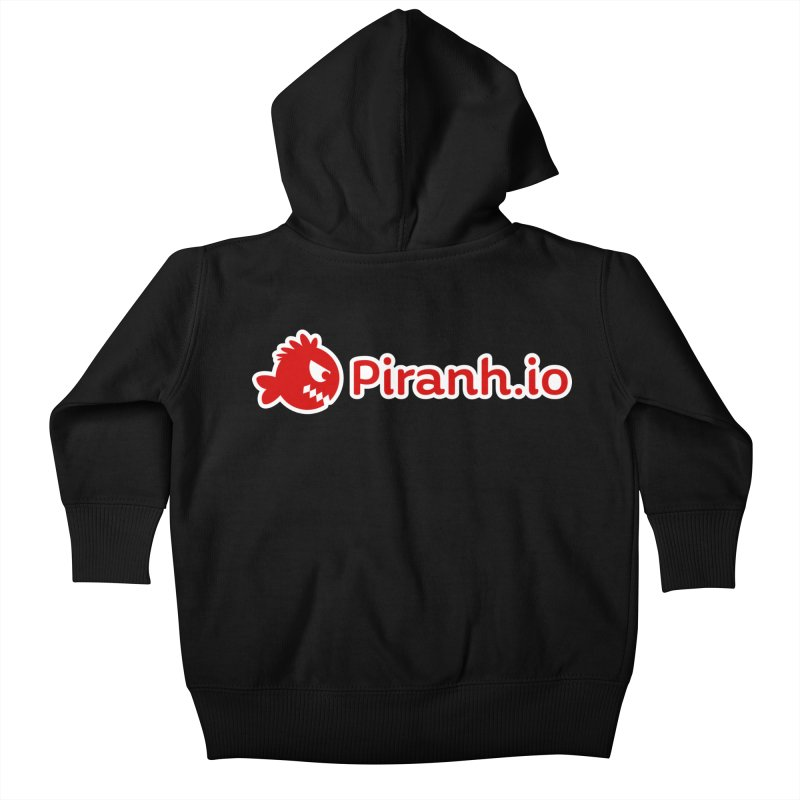 Piranh.io logo Kids Baby Zip-Up Hoody by Kiemura Merchandise